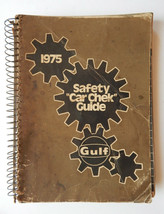 Vintage 1975 Gulf Oil Safety Car Check Shop Manual Guide /  Book Complet... - $14.95