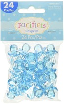 """Pacifier Baby Shower Party Charm Decors 1 x 1/2"""" Baby Blue (24 Pieces) - $6.79"""