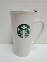 Starbucks 16 fl oz Mermaid Logo Ceramic Tall Mug 2012 White Tumbler with... - $9.89