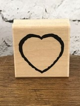 """CTMH Close To My Heart Co 2""""x2"""" Heart Rubber Stamp - $5.93"""