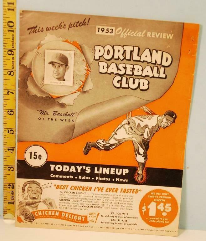 Primary image for 1953 Portland Beavers Baseball Club Program Score Card Seattle Rainiers Unscored