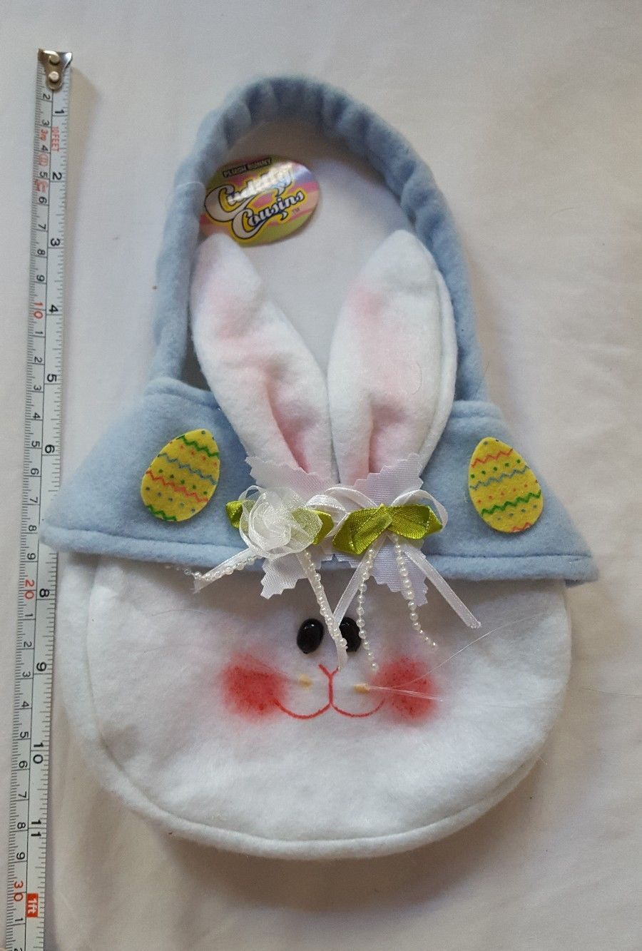 Primary image for New rabbit Easter holiday church Sunday plush Bunny candy Purse bag girls New