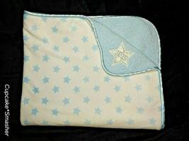Child Of Mine Baby Boy Blue Sherpa STAR White Blanket Lovey Carter's Soft EUC - $24.38