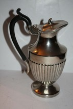 """Victorian Silver Plate Made in England 9"""" Hot Water Jug with Attached Lid - $144.34"""