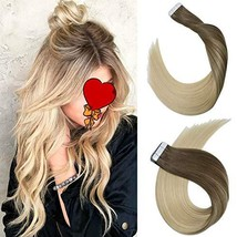 14Inch Tape in Hair Extensions Skin Weft Real Human Hair Extensions Double Sided image 1