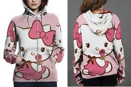 Hello Kitty Cute Hoodie Zipper Fullprint Women - $50.99+