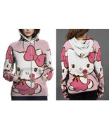 Hello Kitty Cute Hoodie Zipper Fullprint Women - $50.99+