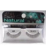 Ardell Strip Lashes Natural Style 109 Black (Pack of 4) Easy Steps Appli... - $16.69