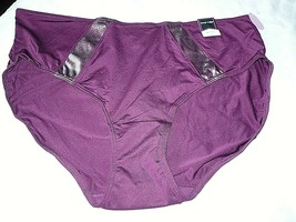 Ambrielle Women's Hi-Cut Panty Size Medium/6  Pickled Beet 1 Pair Shimme... - $12.86