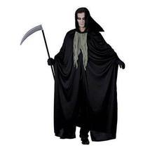 GRIM REAPER, HALLOWEEN, MENS, DEATH CAPE, FANCY DRESS COSTUME #US - $23.50