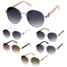Giselle Womens Boyfriend Style Round Metal Rim Designer Sunglasses - $12.95