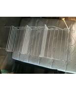 Vintage white wrought iron Bakers Rack 3 shelf - $295.02
