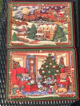 Set of 8 Cork backed Hard Placemats Winget Christmas Story Portmeirion S... - $75.99