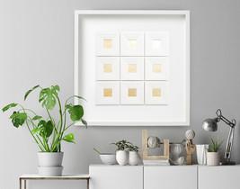 9 Squares, Wall Sculpture,wall decor,Paper sculpture,pepercut, sculpture... - $260.00