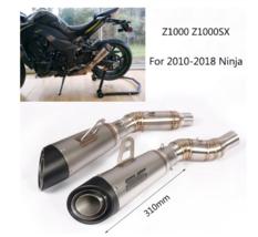 For 2010-2018 Kawasaki Z1000 Motorcycle Exhaust Pipe Slip On Z1000SX Lef... - $297.89