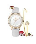 SK® Watches Women Simple Fashion Female Leather Quartz Wrist Watch Ladies - $25.83+