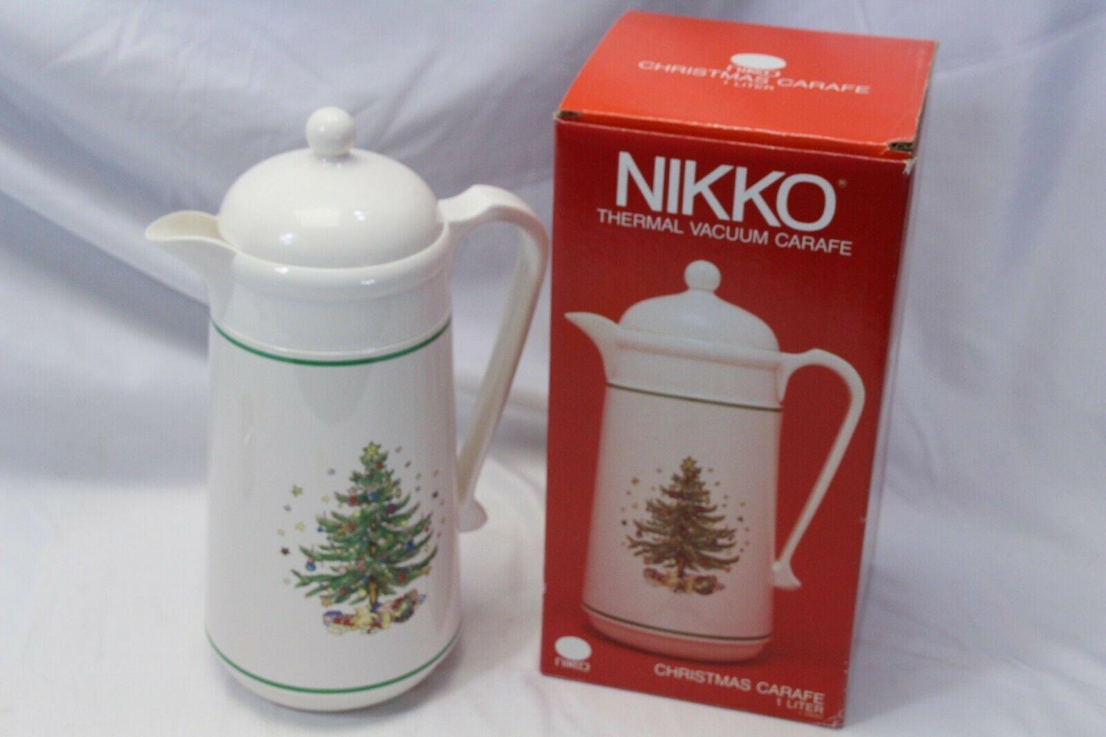 Nikko Christmas Carafe One Liter Thermal