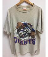 Vintage 90s New York Giants Nutmeg Mills NFL Football Jack Davis Big Log... - $35.00
