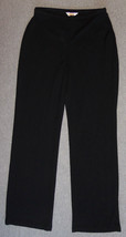New Womens Talbots Medium M Dress Casual Pants Black Trouser Side Zip $88 - $26.17