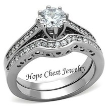CLEARANCE--------------8 Prong Good Luck CZ Engagement & Wedding Ring SI... - $20.00