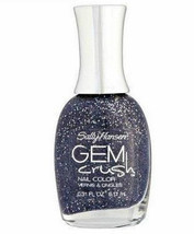 Sally Hansen Gem Crush Nail Polish, 08 Glitz Gal, black gray glitter .31 oz - $6.99