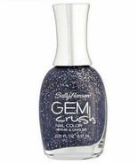 Sally Hansen Gem Crush Nail Polish, 08 Glitz Gal, black gray glitter .31 oz - $6.99