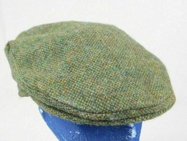 "Hats of Ireland Castlebar Green Tweed Cabbie Newsboy Driver Cap 22"" Sz 7... - $29.99"