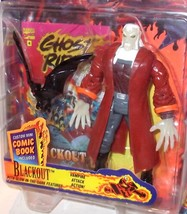 Marvel Comics ✰ Ghost Rider Blackout ✰ Action Figure ToyBiz 1995 SHARP G... - $19.99