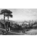 ITALY View of Florence - 1864 Fine Quality Print Engraving - $49.50