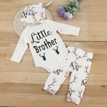 3pcs Newborn Infant Kids Baby Boy Girl Romper Tops+Pants+Hat Outfits Clo... - $28.00