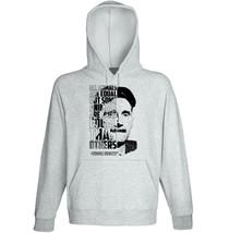 George Orwell - All Animals - New Cotton Grey Hoodie - $31.88