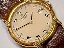 Raymond Weil Geneve Quartz Men's Watch cal ETA 955.412- 18k Gold Electroplated - $173.55