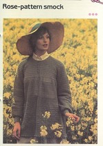 Women's Rose-pattern Smock Cavendish Crochet PATTERN/Instructions Leafle... - $0.90
