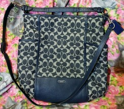 Coach Blue Denim Park Signature Hobo Shoulder Bag Handbag Crossbody - $99.00