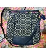 Coach Blue Denim Park Signature Hobo Shoulder Bag Handbag Crossbody - $99.00