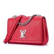 100% Authentic Louis Vuitton Red Rubis Lockme II BB Bag Receipt Mint image 4