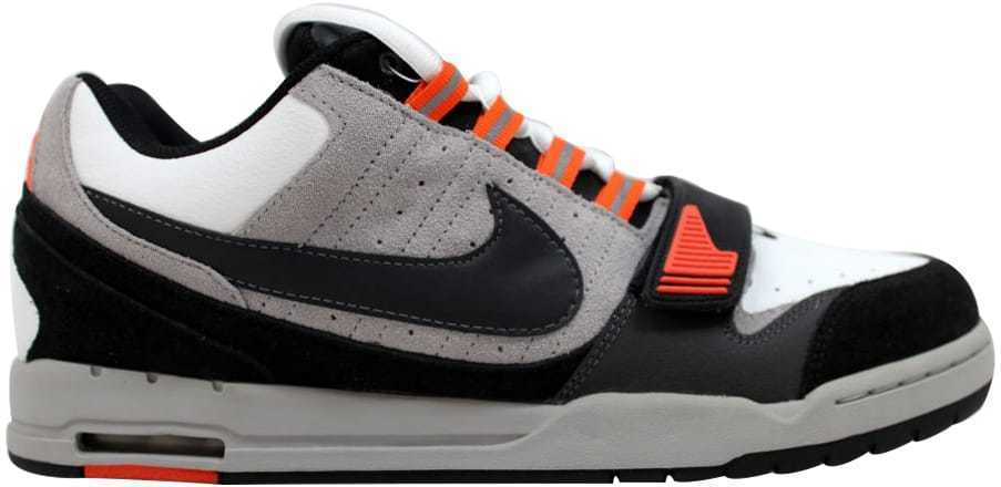 e980bd23a90 Nike Air Heist White Black-Metallic Silver-Orrange Blaze 317762-101 Men s  SZ 12