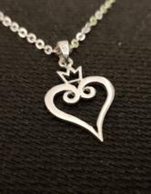 Pendant - Kingdoms Hearts - Love - Remembrance Symbol - 925 Silver - Han... - $42.00