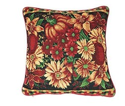 DaDa Bedding Thanksgiving Throw Pillow Cover - Pumpkin Fall Harvest Flor... - $18.70