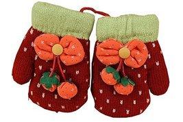 Durable Lovely Pattern Warm Gloves Useful Woolen Winter Baby Mittens 137CM