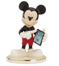 Lenox Disney Cyber Chat With Mickey Mouse Figurine NEW - $34.90