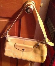 "Fossil Leather Medium Purse 11"", 12"", 6"", 7"", Doctor, Gold - $23.96"