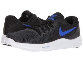Men's Nike Lunar Apparent Running Shoes, 908987 009 Multi Sizes Black/Blue/Anthr - $89.95