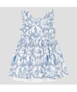 New DISNEY TARGET Durran Girls' Beauty and the Beast Blue White Toile Dr... - $47.51