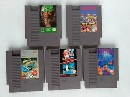 Tecmo Bowl Tetris Dr Mario Mario Bros/Duck Hunt Marble- 5 Nintendo NES G... - $28.99