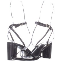 Nine West Provein Ankle Strap Block Heel Sandals 751, Black, 6 US - $25.91