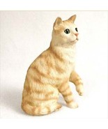 SHORTHAIRED RED TABBY CAT Figurine Statue Hand Painted Resin Gift - $17.25