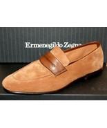 Ermenegildo Zegna L'Asola Suede Extra Flex Loafers Md Brown Shoes Sz EU1... - $643.45