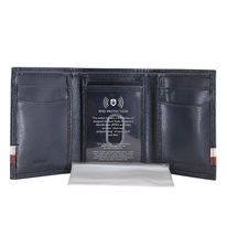 Tommy Hilfiger Men's Leather Wallet RFID Protection Trifold Red Navy 31HP110034 image 6