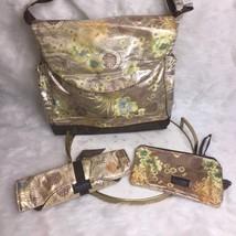 Timi & Leslie Designer Asian Floral Baby Diaper Bag Tote Purse Water Res... - $39.19
